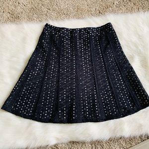 Ann Taylor Petite Flower lace skirt